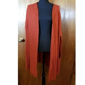 Burnt Orange/Rust Knit Cape Kimono Cardigan